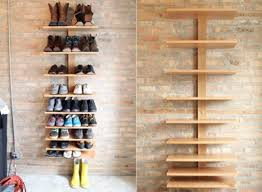 Bookshelves That Hang On The Wall by Design Ideas Unusual Shoe Storage Ideas Utilizing Wooden Rack