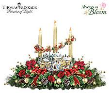 thomas kinkade lighted pictures thomas kinkade the lights of christmas illuminating village table