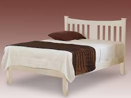 4ft Bed Frame 4ft Bed Frames 4ft Erin Small White Wooden Bed Frame Low