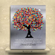 anniversary gifts personalized tin anniversary gift personalized family tree faux tin background
