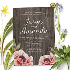 wedding reception invitation rustic custom elopement reception invitation cards