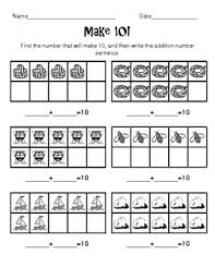 make 10 worksheet addition to 10 with 10 frames by crystal dunn