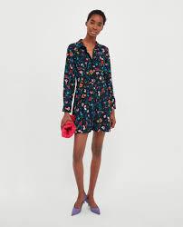 dress jumpsuit printed jumpsuit dress jumpsuits zara united kingdom