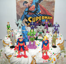 superman cake toppers superman deluxe cake toppers cupcake decorations set