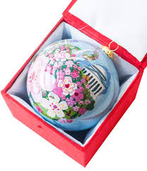 newseum store cherry blossom collage ornament