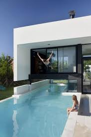 swimming pool amusing small box house design with wooden wall