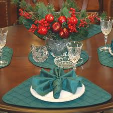 decorating stylish white dining table cloth and charming blue