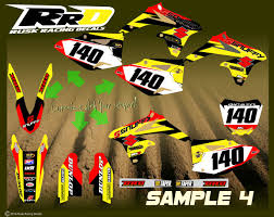custom motocross jersey printing rusk racing custom motocross graphics and decals thick stickers