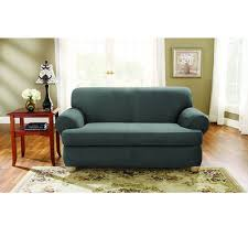 2 piece t cushion sofa slipcover sure fit stretch suede loveseat 2 piece t cushion slipcover u2014buy now