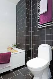black and white bathroom subway tile stainless curve faucet two