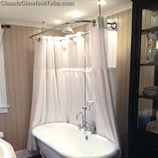 Clawfoot Tub Shower Curtain Liner Clawfoot Tub Shower Deckmount Circular Enclosure Leg Combo W