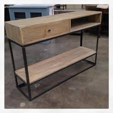 wood and metal console table metal console table newcastle wood and metal console table