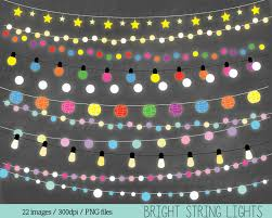 Colored Christmas Lights by Fairy Lights Clipart String Lights Clip Art Christmas