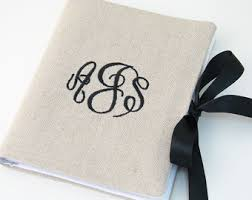 monogrammed photo album monogrammed album etsy