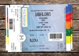 ticket style wedding invitations for sale in athlone westmeath