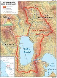 Southeastern Europe Map by Lake Ohrid Basin Map U2014 Twrm Med