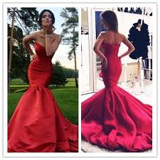 elegant evening dresses real image 2016 cheap red sweetheart