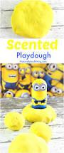 the most amazing minions banana playdough recipe for kids