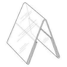 table tent sign holders w x 6 h clear styrene double sided table tent sign holder