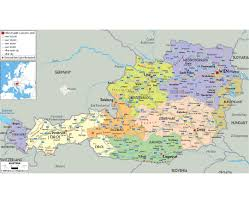 Germany Political Map by Maps Of Austria Detailed Map Of Austria In English Tourist Map