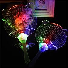led light up toys wholesale 10pcs lot novelty led flashing hand fan colorful acrylic night