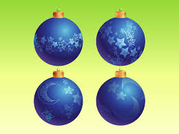 blue christmas ornaments vector art u0026 graphics freevector com