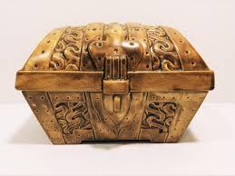 vintage pirate treasure chest cookie jar 9 5 wide
