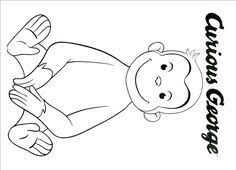 curious george printable coloring book kids curious