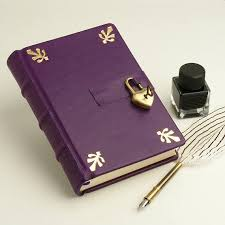 leather memory book secret diary leather memory book purple journal