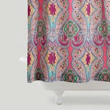 Turquoise Paisley Curtains Pink Venice Shower Curtain World Market