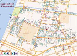 Back Road Maps Map Of Khaosan Road And Banglamphu Bangkok Basics Bangkok Basics