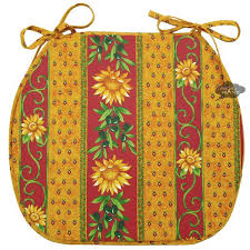 French Country Chair Cushions - sunflower red coated french style chair pad by le cluny i dream
