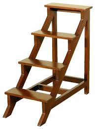 step stool bench multi functional ladder chair seat wood folding 3