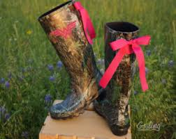 womens camo rubber boots canada custom black camo boots turquoise bows monogram