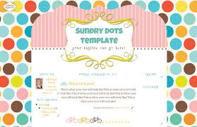dots blog template the cutest blog on the block