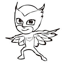 pj masks coloring pages coloring home