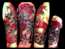 and skull sleeve tattoos for and popular ideas
