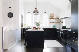 modern farmhouse kitchen cabinets white the black kitchen cabinet trend hungeling design