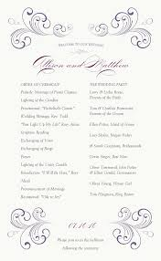 christian wedding programs swirl wedding program