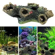 aliexpress buy resin aquarium ornament fish play tree house