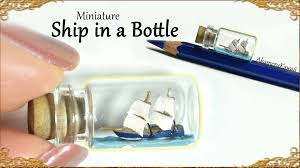 ship in a tiny miniature ship in a bottle polymer clay tutorial