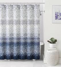 Threshold Medallion Shower Curtain by Blue And Cream Shower Curtain Intelligent Design Emmet Printed