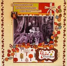 precious treasures fall thanksgiving scrapbook