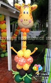jungle theme party decorations balloon sculpture happy giraffe