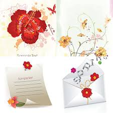 Invitation Card Free Download Spring Invitation Card With Flowers Vector Free Download