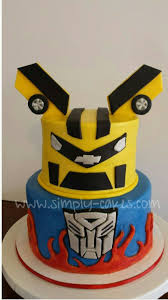 transformers bumblebee and optimus party cake topper transformers cake with bumblebee and optimus prime www