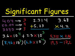 significant figures rules explained rounding decimals zeros