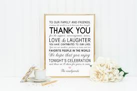 wedding quotes about family printable thank you family friends wedding reception