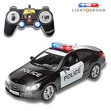 remote control police car with lights and siren amazon com prextex rc police car remote control police car rc toys
