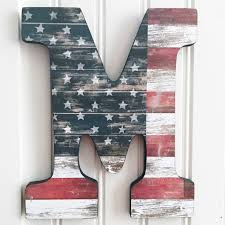 How To Display American Flag On Wall 9 Rustic American Flag Wall Letterwood Letterletter